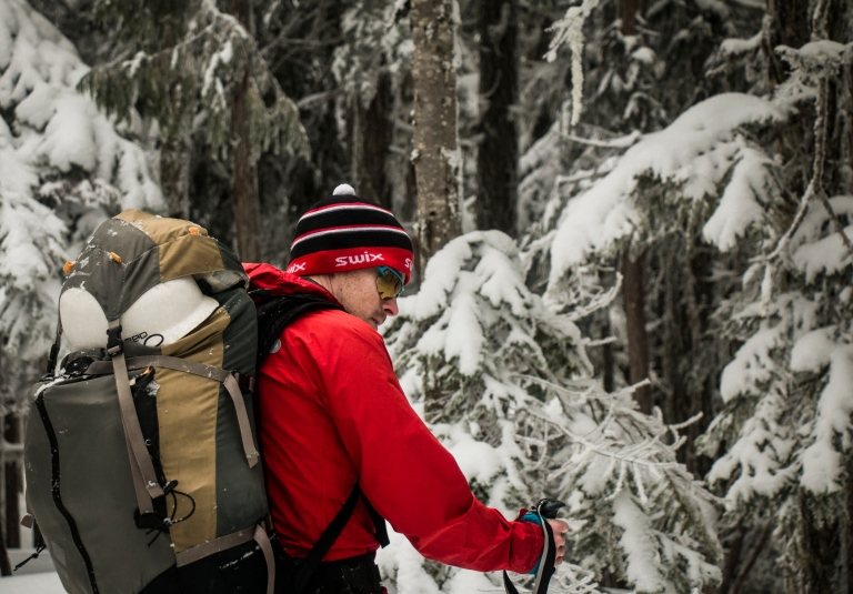 forest-winter-backcountry-cascades-swix-touring-backpack
