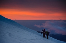Sunrise was even better than sunset! Here's a climbing crew who stopped to take in the view.